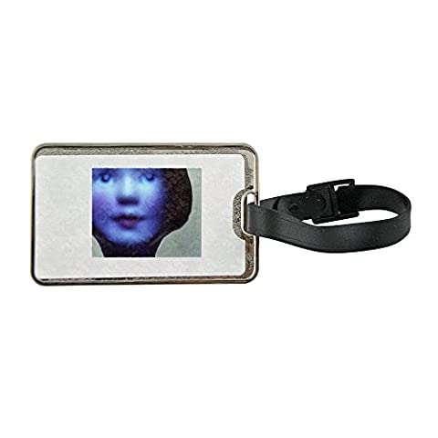 Metal luggage tag with Doll's face