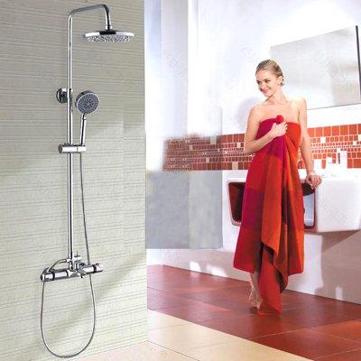 Galvanik Retro Wasserhahn Retail - Luxus Messing Regendusche, thermostatische Dusche Rail Bar, an der Wand montierten Dusche Spalte, Kostenloser Versand X 9022 SS1, Hellgrau - Messing-bar Rail