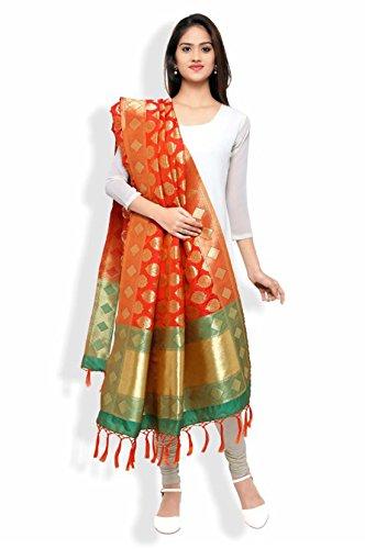 Fabkaz New Women's Art Silk And Zari Work All Color Dupatta &...