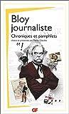 Bloy journaliste - Articles et chroniques
