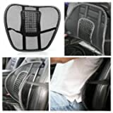 Chair Mesh Seat Back Support Lumbar Cushion Car Office Sitting Position Correcter