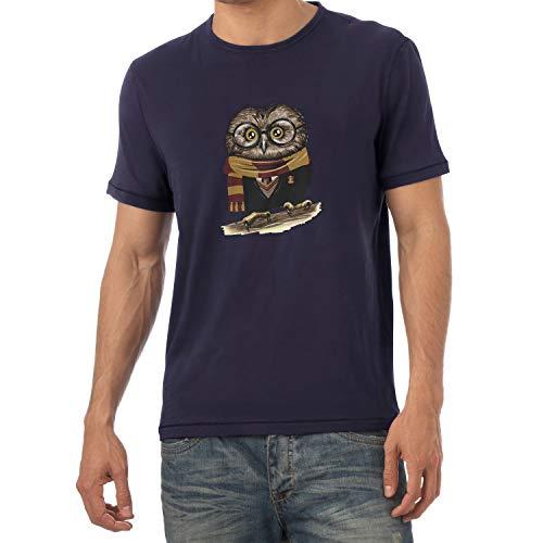 Texlab Herren Harry Owl T-Shirt, Navy, M