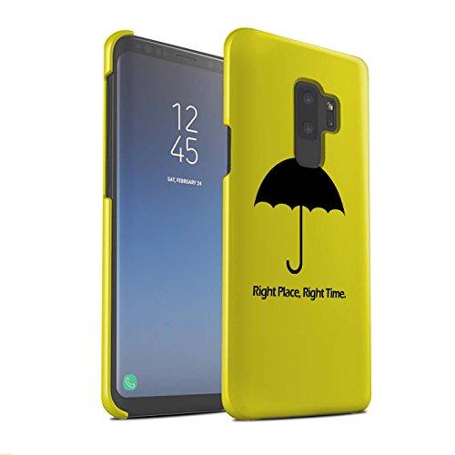 Stuff4® Matte Snap-On Hülle/Case für Samsung Galaxy S9 Plus/G965/Regenschirm/Zitat Muster/Lustige Komödie Sitcom TV Kollektion (Lustige Zitate Tv)