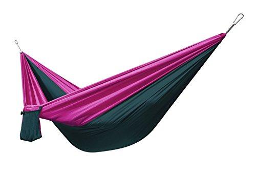 Poids léger extérieur Voyage Camping multifonction portable Camping Voyage Tissu en nylon de parachute hammockwith Corde et mousqueton Purple/Army