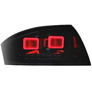 Dectane RA06KLBS Lot de 2 feux arrière LED pour Audi TT 8N3 et 8N9 entre 1998 et 2005 (Noir/fumé)