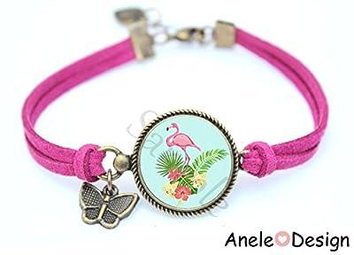 Bracelet femme Flamant rose TROPICAL Exotique
