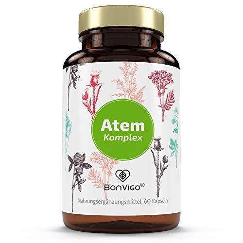 ATEM LUNGE - DER NATUR-KOMPLEX - Durchatmen mit 11 Heilpflanzen: Isländisch Moos, Eukalyptus, Salbei, Malve, Moringa - Vitamin E gegen freie Radikale, Selen für Immunsystem, wichtig bei Allergien
