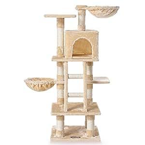 zoomundo 53756841 arbre chat beige animalerie. Black Bedroom Furniture Sets. Home Design Ideas