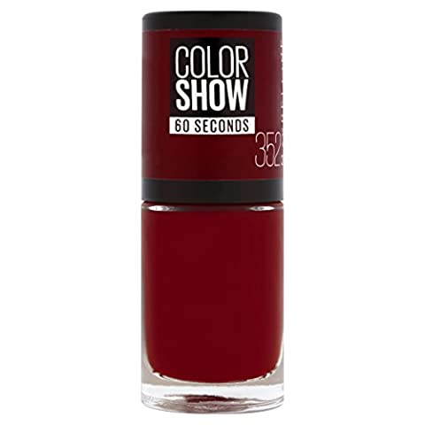 Gemey Maybelline Colorshow - Vernis à ongles -352 Downtown Red