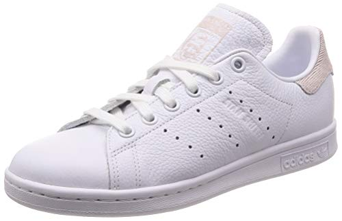 adidas Stan Smith W, Zapatillas para Mujer, Blanco Footwear White/Orchid Tint 0, 40 EU