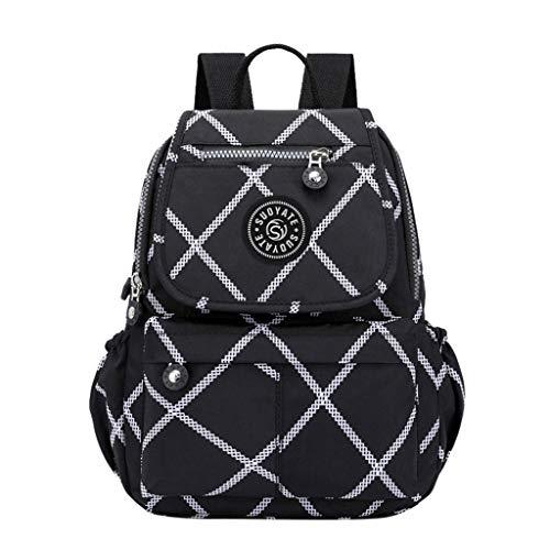 SCEMARK Damen Rucksack Wasserdicht Rucksack mit großer Kapazität Schülerschulter Reisetaschen Lässig Wasserdichte Schultasche Reise Daypacks Kleine Geldbörse
