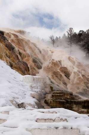Feelingathome-STAMPA-ARTISTICA_x_cornice-Wyoming,-Yellowstone-Mammoth-Hot-Springs-panoramica-cm74x48-arredo-POSTER-fineart
