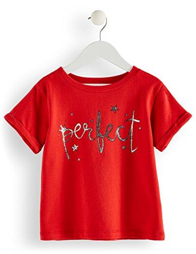 RED WAGON Mädchen T-Shirt mit Slogan, Rot (Red), 128 (Herstellergröße: 8 Jahre)