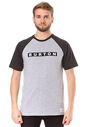 Pre-short Sleeve Graphic T-shirt (Burton Herren Vault Shortsleeve T-Shirt, Gray Heather, L)