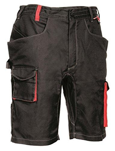 COFRA Arbeitsshort Slim Work Reihe LIEGI in Mehreren Farben Kurze Arbeitshose (48, Schwarz-Rot)