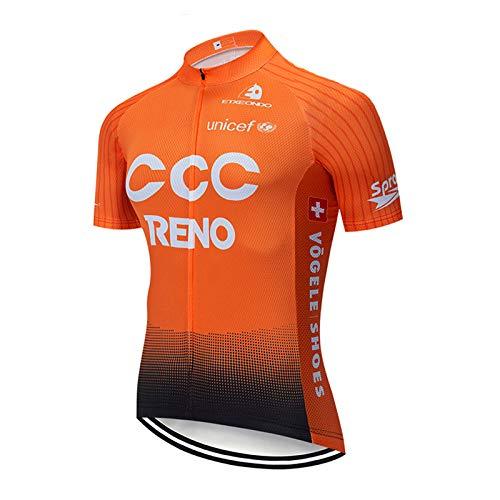 SUHINFE Radtrikot Herren Fahrrad Trikot Kurzarm Radhose für MTB Rennrad Fahrrad Jersey, CCC-ORG, M