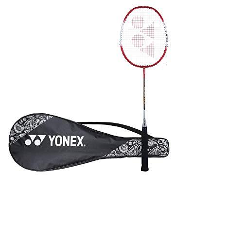 Yonex ZR 100L Aluminum Strung Badminton Racquet with Full Cover (Red)