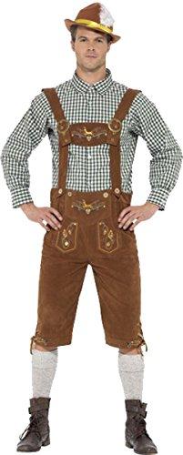 fest Party Kleid Stecker Traditionelle Deluxe Hanz Bayerische Kostüm, Grün (Männlichen Oktoberfest Kostüme)