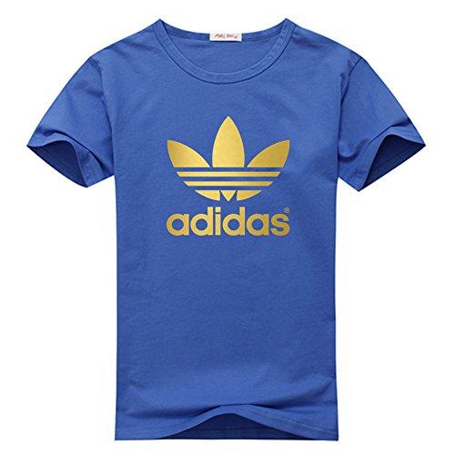 Klein CO Adidas Gold Logo Men's Short Sleeve T-Shirt Blue