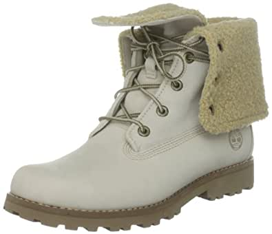 Timberland Authentics FTK_6 In WP Shearling Boot 21926  Mädchen Stiefel ,Weiß (Off White Nubuck)  EU 39.5 (US 6.5)