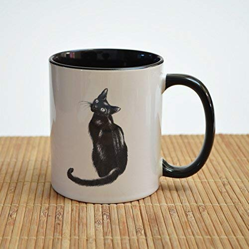 - keramische Kaffeetasse. Katzenbecher ()