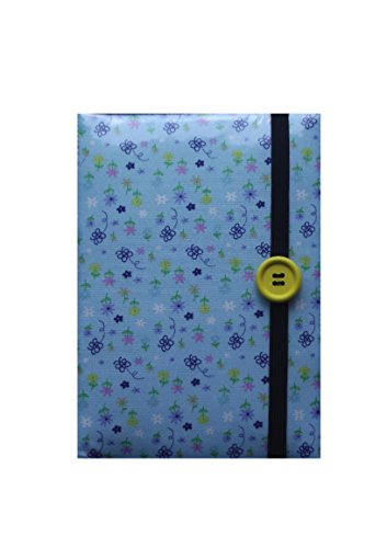 Kindle Fall Butterfly (Blue Butterflies and Flowers Print Ereader Case - New Kindle 6