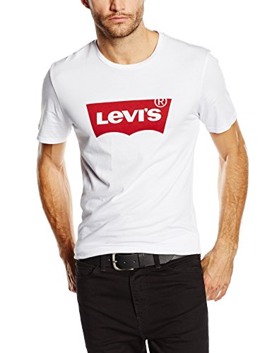Levi's graphic set-in neck, t-shirt uomo, bianco (white graphic h215-hm 36.4 140), l