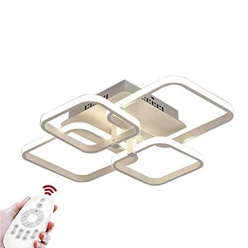 Moderne Deckenleuchte LED Wohnzimmer Künstlerische Persönlichkeit Lampe 4 Quadrat Acryl Metall für Küche Schlafzimmer Esszimmer Büro 58 * 46 * 14 CM 60 Watt 3800LM