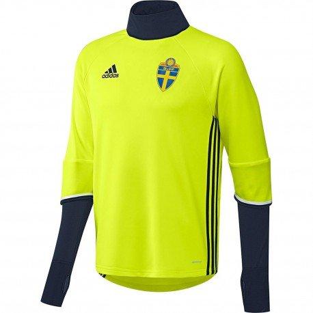 adidas Herren Trikot SVFF Schweden Trainingsoberteil, SYELLO/Conavy, S, AC3910