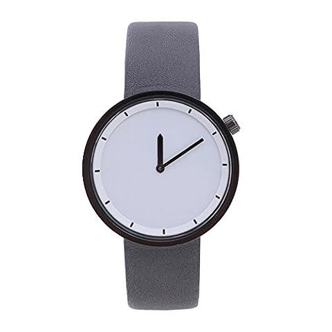 Men Watch,Honestyi Men Round Dial Leather Band Casual Quartz Watch,Dark