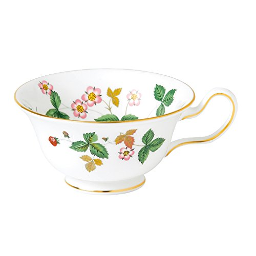 Wedgwood Wild Strawberry Peony Tea Cup, White Wedgwood Strawberry