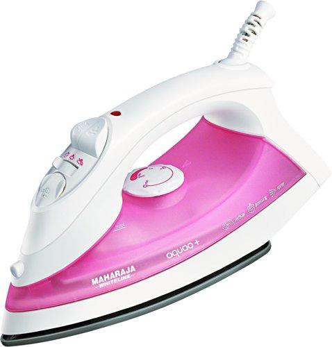 Maharaja Whiteline Aquao Plus 1300-Watt Steam iron (Pink)