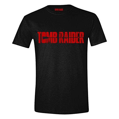 Camiseta Tomb Raider para hombre Movie Logo Cotton Black - M