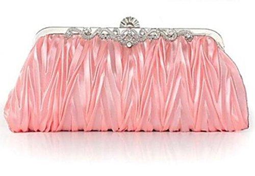 WZW Damen Seide / Satin Veranstaltung / Fest Abendtasche Weiß / Rosa / Lila / Blau / Gold / Braun / Silber / Grau / Schwarz / Fuchsie blushing pink