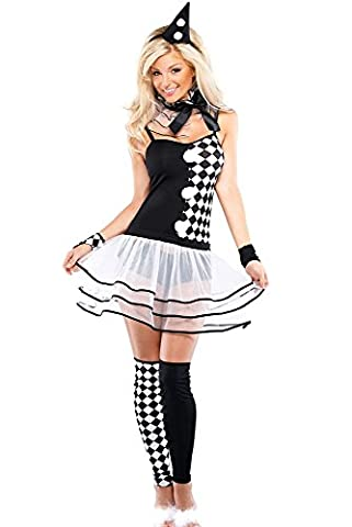 Damen-Kostüm Harlequin Hottie Clown Gr. S