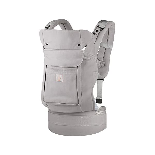 """GAGAKU Ergonomic Baby Carrier Soft Cotton Front and Back - Child Carrier with Detachable Hood for All Seasons (5-48 Months) GAGAKU Ergonomic 34 cm (13.5 inches ) wide seat provides proper support of baby's legs, hips and spine, and support your baby in natural """" M """" Position baby to toddler; Adjustable neck support secure and proper placement of baby's head and neck; Extra-padded shoulder strap and wide waist belt ensure stability and pressure reduction; 1"""