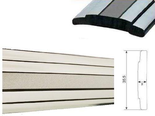 Preisvergleich Produktbild 35mm x 5 METER ZIERLEISTE Silber-Chrom selbstklebend Universal AUTO TUNING Wohnungsdekoraton Eckleiste Wanddekor Autotuning
