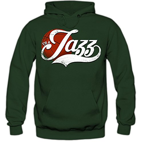 True Jazz #4 Hoodie | Herren | Basketball | Play Offs | Champion | Basketball Hoodies | American Sports | USA | Kapuzenpullover, Farbe:Dunkelgrün (Bottlegreen F421);Größe:S