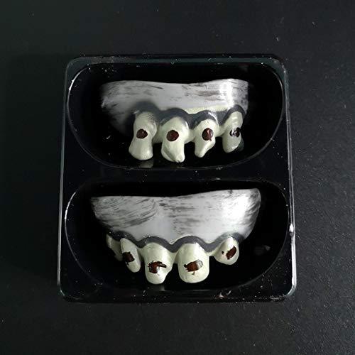 VICKY-HOHO Halloween Zahnzähen Vampir Zähne Zombie Vorderzähne Kunststoff weiche Zahnspangen