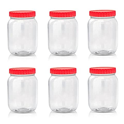 Sunpet Large Red Top Plastic Food Storage Canister Size 1000