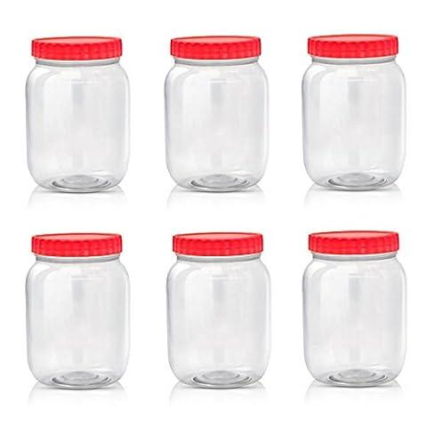 Boîtes decConservation en plastique Sunpet, rouge, Plastique, Red, 1000 ml