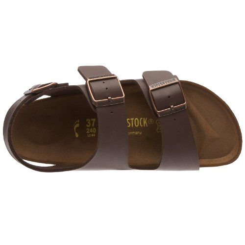 Birkenstock Milano - Sandali unisex - adulto Marrone (Dark Brown)
