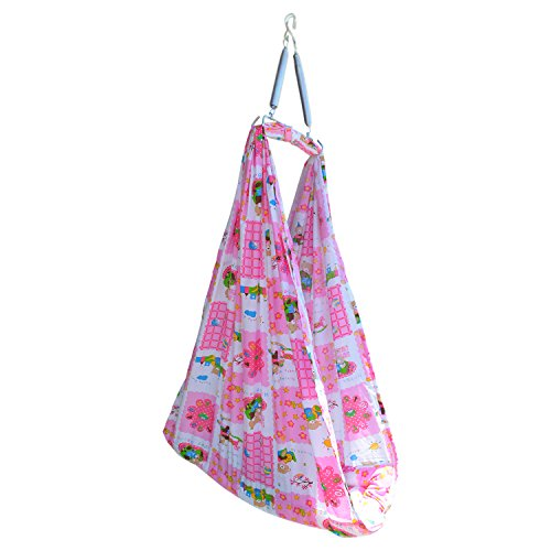 Younique Baby Cradle/Baby Bedding Sets/Baby Jhula Swing with Mosquito Net and Spring Set (Pink & White)