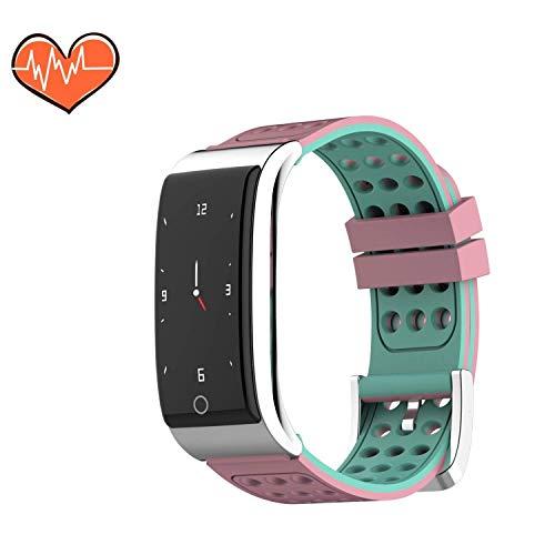 Fitness-Tracker, Touchscreen Sport Smart Watch, mit Herzfrequenz, Schrittzähler, Kalorienberechnung, EKG-Test, Blutdruck, Schlafüberwachung, Damen und Herren Wasserdichte Smart-Armband
