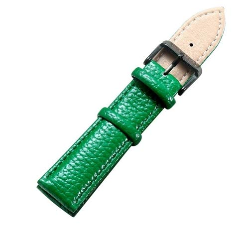 Xiaochou@sl Einfaches und stilvolles schwarzes Uhrenarmband aus schwarzem Schnallen, Breite: 20 mm Mode (Farbe : Grün) (Breites Schwarzes Uhrenarmband)
