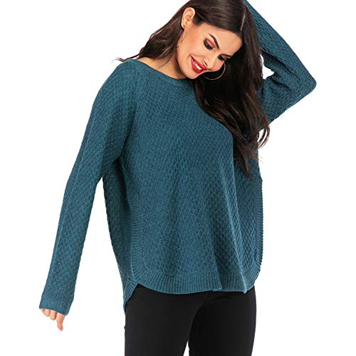 ZYCCL Damen Pullover, Große Frauen Pullover Rundhals Pullover Pullover Lose Spitze -
