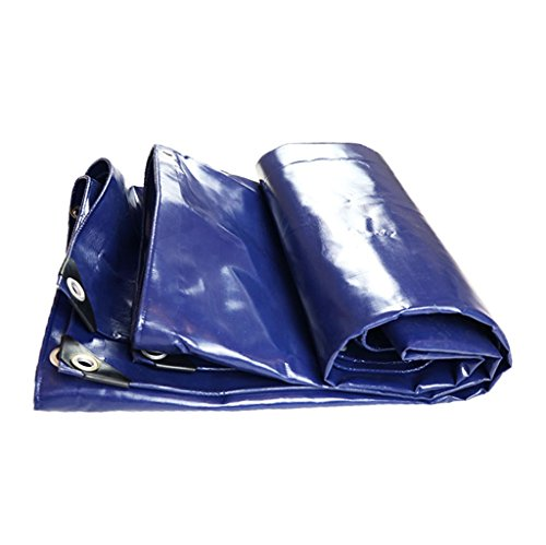 Bâches La feuille de sol de bâche de polyéthylène bleue couvre la tente de 550g / m² pour camper et extérieur - 100% imperméable et UV résistant Couverture de piscine