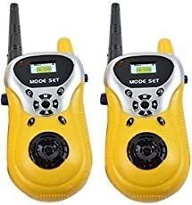 NSinc 2 Piece Walkie Talkie Set for Kids with Extendable Antenna for Extra Range, Handheld Radio Transceiver, 100 mtrs Long Range
