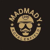 #2: isee360 MadMady Royal Enfield Gold Reflective Sticker_ Standard Size For Sides