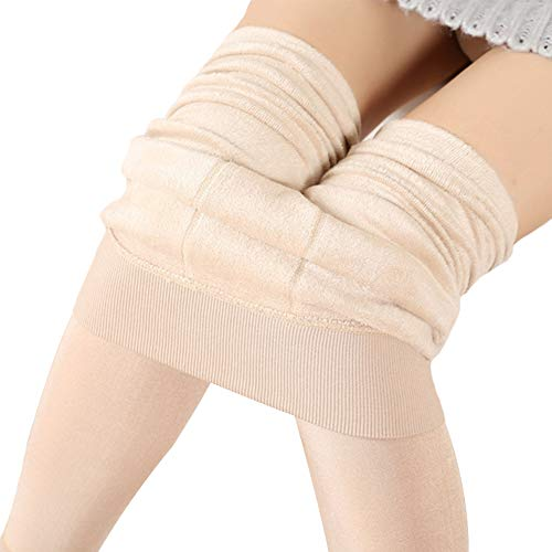 Comcrib Damen Dicke Kompressionsleggings Winter Samt Thermal Underwear Super Dick Leggings Dehnbar Hose Elastizität Hüftheben Thermo Unterhose Körperformung Wärme Thermo Unterwäsche -